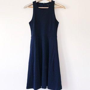 Banana Republic Blue White Polka Dot Swing Dress 4
